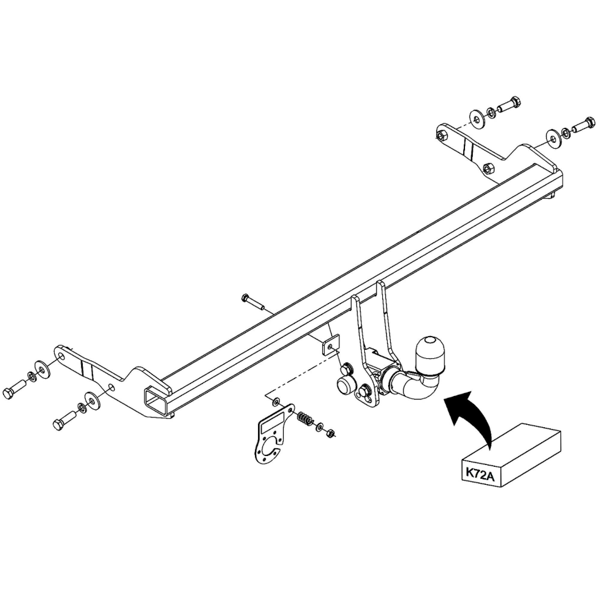 AutoHak enganche remolque extraíble para seat ibiza V 13pol espec preparación remol