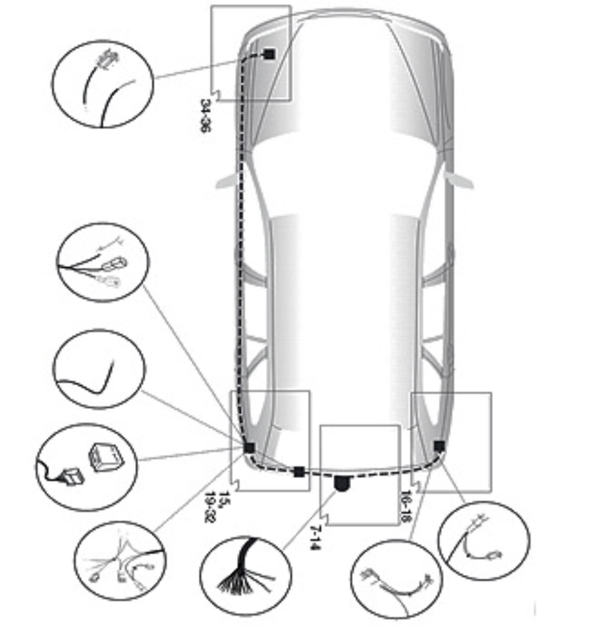 Anhängerkupplung AHK Für Mazda 6 Kombi GY 02-08 starr mit 7pol Elektrosatz spez